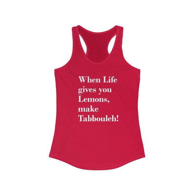 Tank Top Solid Red / L When Life Gives you Lemons - Racerback Tank