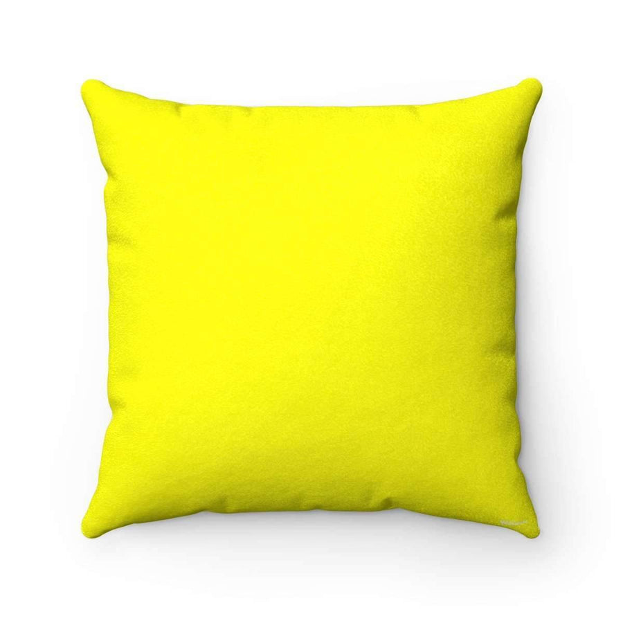Throw Pillows 14x14 Arabic Alphabet in Lime Faux Suede Square Pillow Case