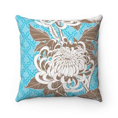 Throw Pillows 14x14 Azure Floral No 1 Pillow Case