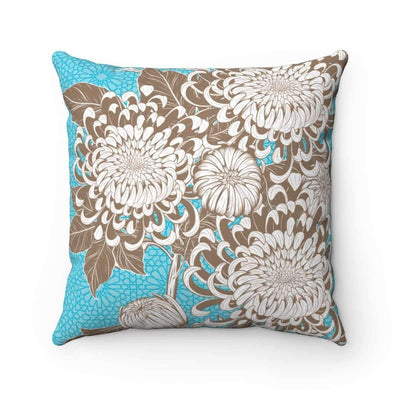 Throw Pillows 14x14 Azure Floral No 2 Pillow Case