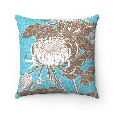 Throw Pillows 14x14 Azure Floral No 3 Pillow Case