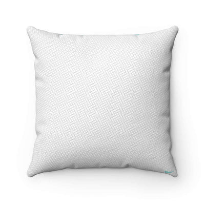 Throw Pillows Azure Grid Faux Suede Pillow Case