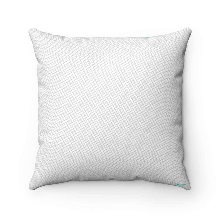 Throw Pillows 14x14 Azure Grid Faux Suede Pillow Case