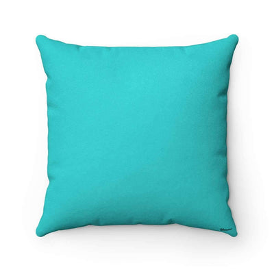 Throw Pillows Oud in Aqua Blue Faux Suede Pillow Case