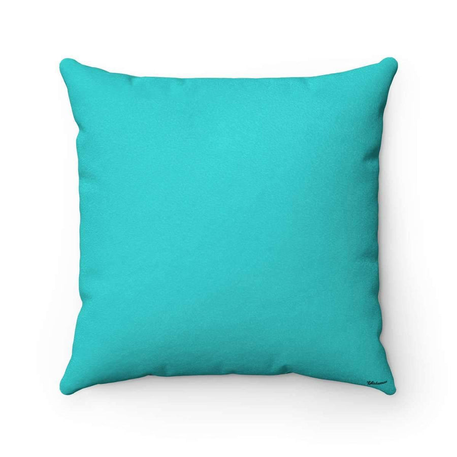 Throw Pillows 14x14 Oud in Aqua Blue Faux Suede Pillow Case