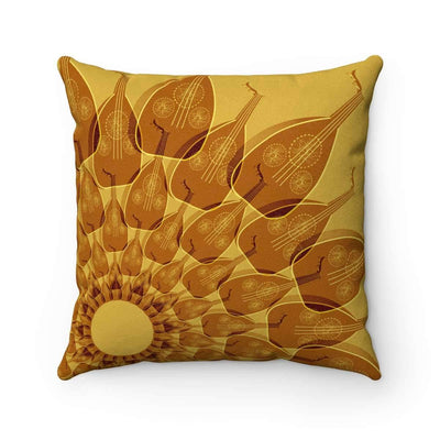 Throw Pillows 14x14 Oud in Ceylon Yellow Faux Suede Pillow Case