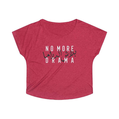 Top L / Tri-Blend Vintage Red No More Drama - Tri-Blend Top