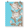 Wall Art Azure Floral Wall Art No 1