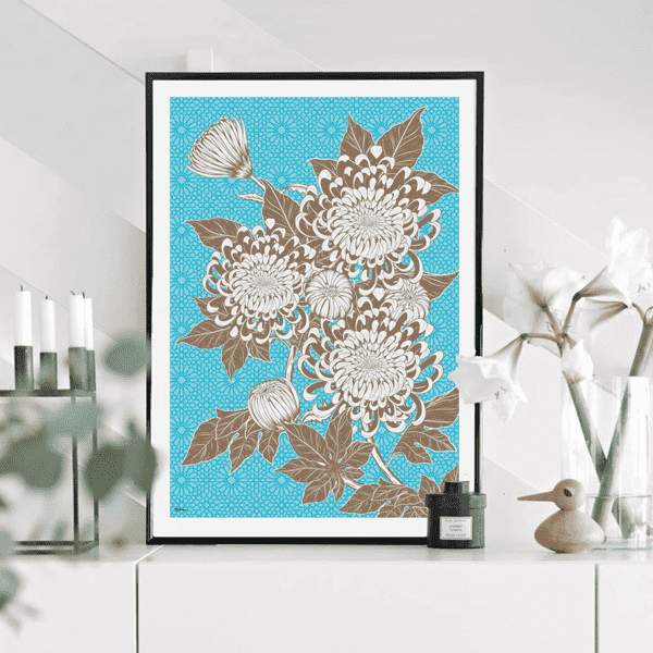 Wall Art Azure Floral Wall Art No 2