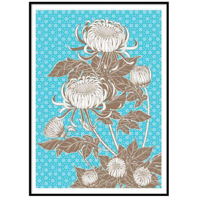 Wall Art Azure Floral Wall Art No 3