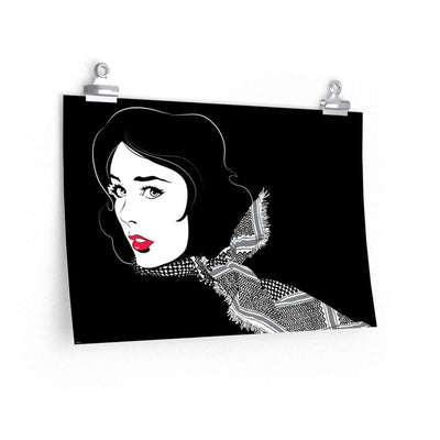 "Wall Art 18""— 12"" / CG Matt Black Shemagh"