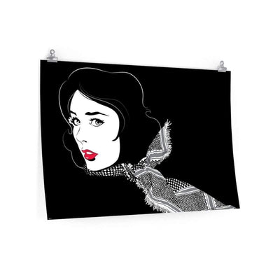 "Wall Art 36""— 24"" / CG Matt Black Shemagh"
