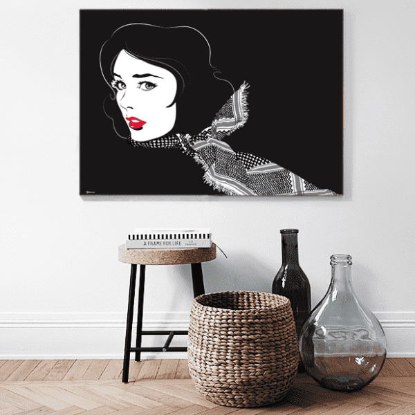 Wall Art Black Shemagh