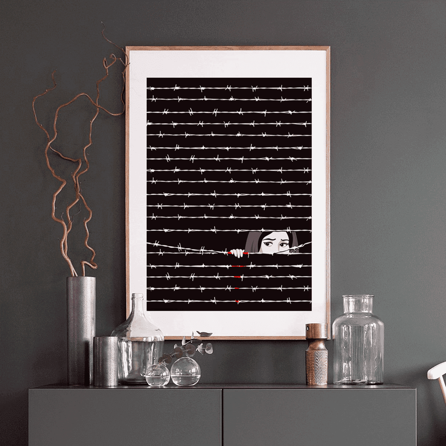 Wall Art Hide & Seek in Gaza Art Print