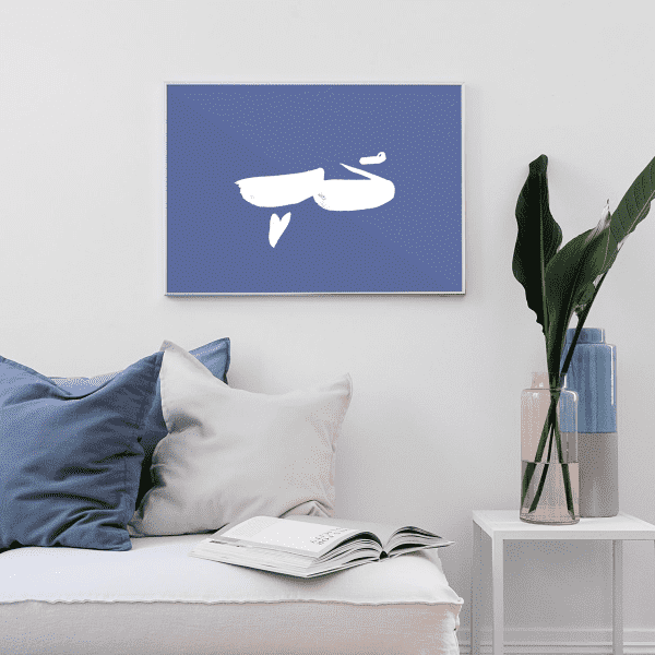 Wall Art Hob | Love in Blue Wall Art