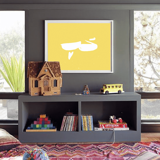 Wall Art Hob | Love in Yellow Wall Art