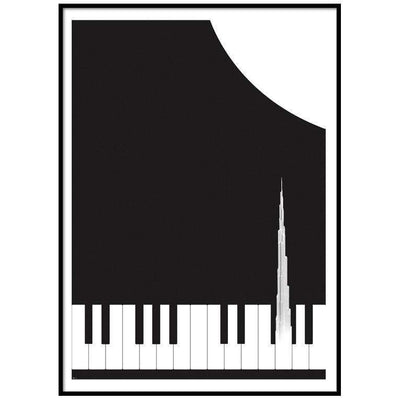 Wall Art Music of Burj Khalifa Art Print