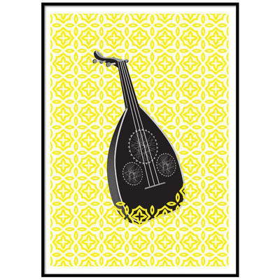 Wall Art Oud Yellow Art Print