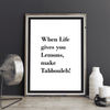 Wall Art When Life Gives You Lemons Make Tabbouleh Poster