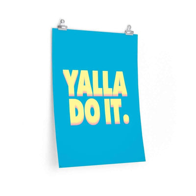 "Wall Art 18""— 24"" / CG Matt Yalla Do It Blue Poster"