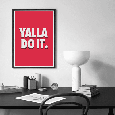 Wall Art Yalla Do It Red Poster