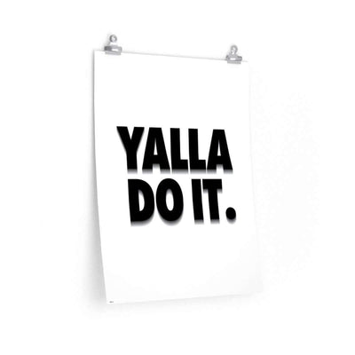 "Wall Art 18""— 24"" / CG Matt Yalla Do It White Poster"