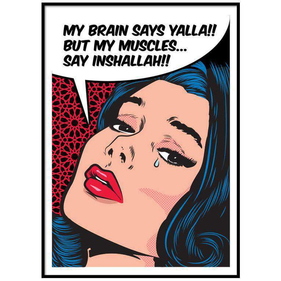 Wall Art Yalla vs. Inshallah Art Print