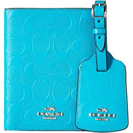 COACH  Passport Case & Luggage Tag Set Leather