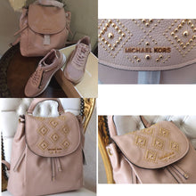 Michael Kors Riley Leather Large Backpack & Maddy Mesh Trainer(Tennis Shoes)