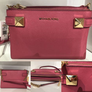 Michael Kors Karla Saffiano Leather Satchel & Crossbody