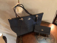 Coach Signature Leather Debossed Ava Tote & Wallet