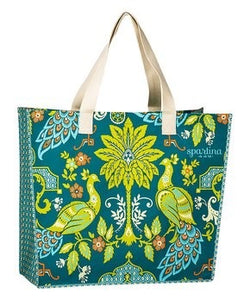Summer Tote - Spartina - Blue & Green Peacock Tote
