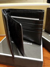 Men's Wallet - Michael Kors Jet Set Billfold Men's Wallet with Passcase  Black