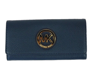 Michael Kors Fulton Flap Continental Leather Navy