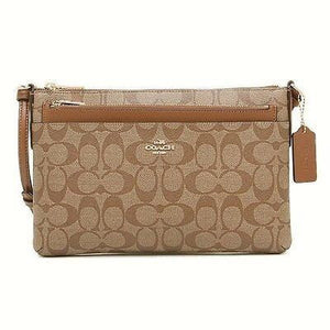 COACH Signature Pop Up Pouch Crossbody bag