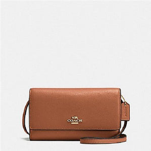 COACH Phone Crossbody in Pebble Leather