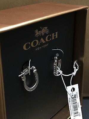 COACH Signature Huggies Silver