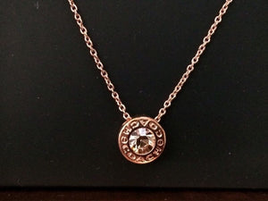Necklace & Earrings - COACH Open Circle Stone Strand Necklace &  Earring Set Rose Gold
