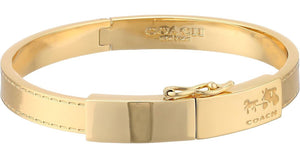 Bangle - COACH  Signature  Horse & Carriage Plaque Hinged Bangle