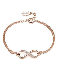 Bracelet - Rose Goldtone Infinitely Yours with Swarovski® Crystals