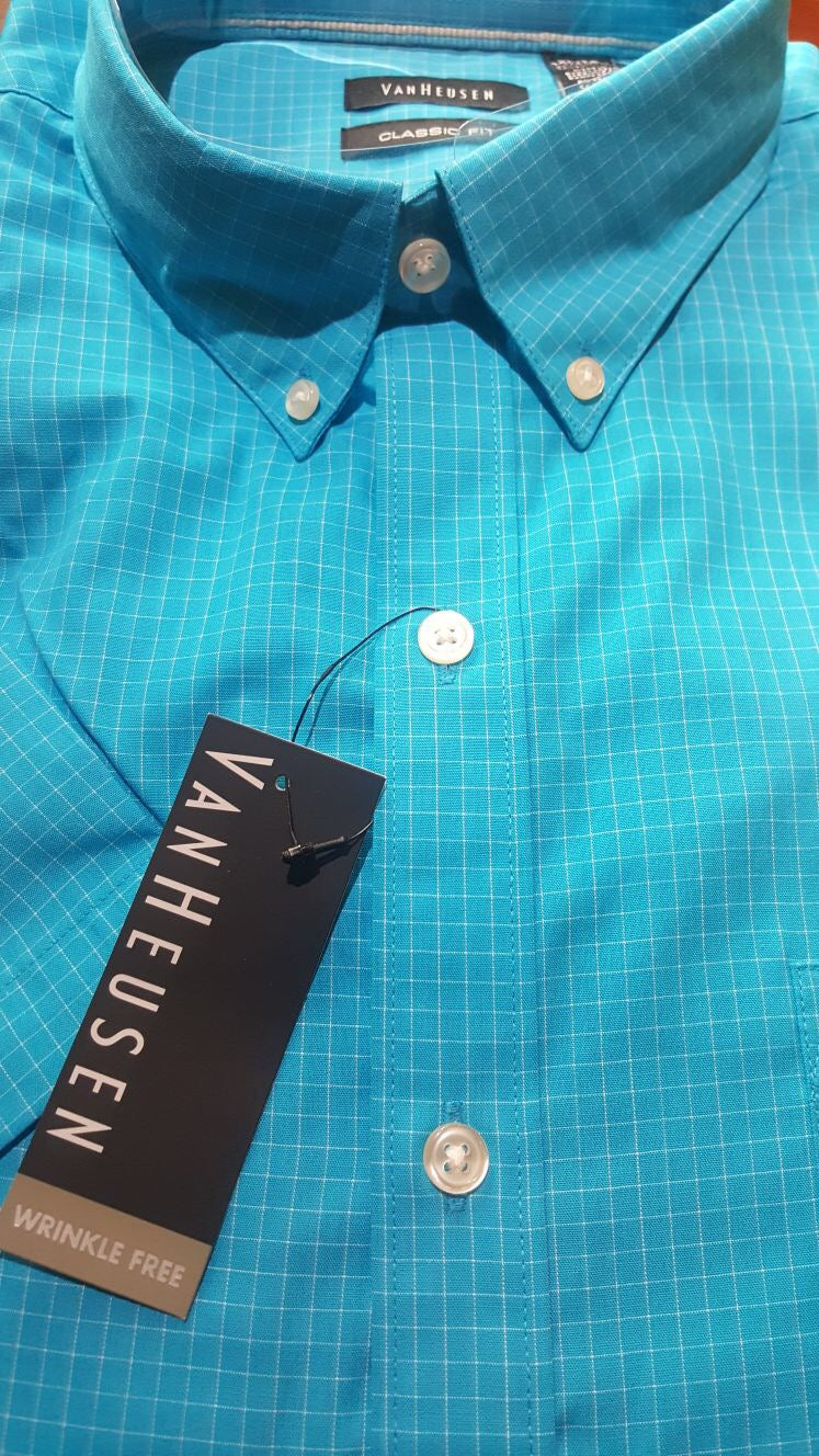 Men Short Sleeve Wrinkle Free Shirt XLarge