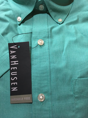 Men Short Sleeve Wrinkle Free Shirt Medium