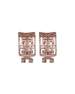 Greek Key Huggie Earrings