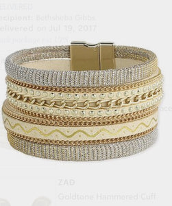 Goldtone Stacked Chain Bracelet