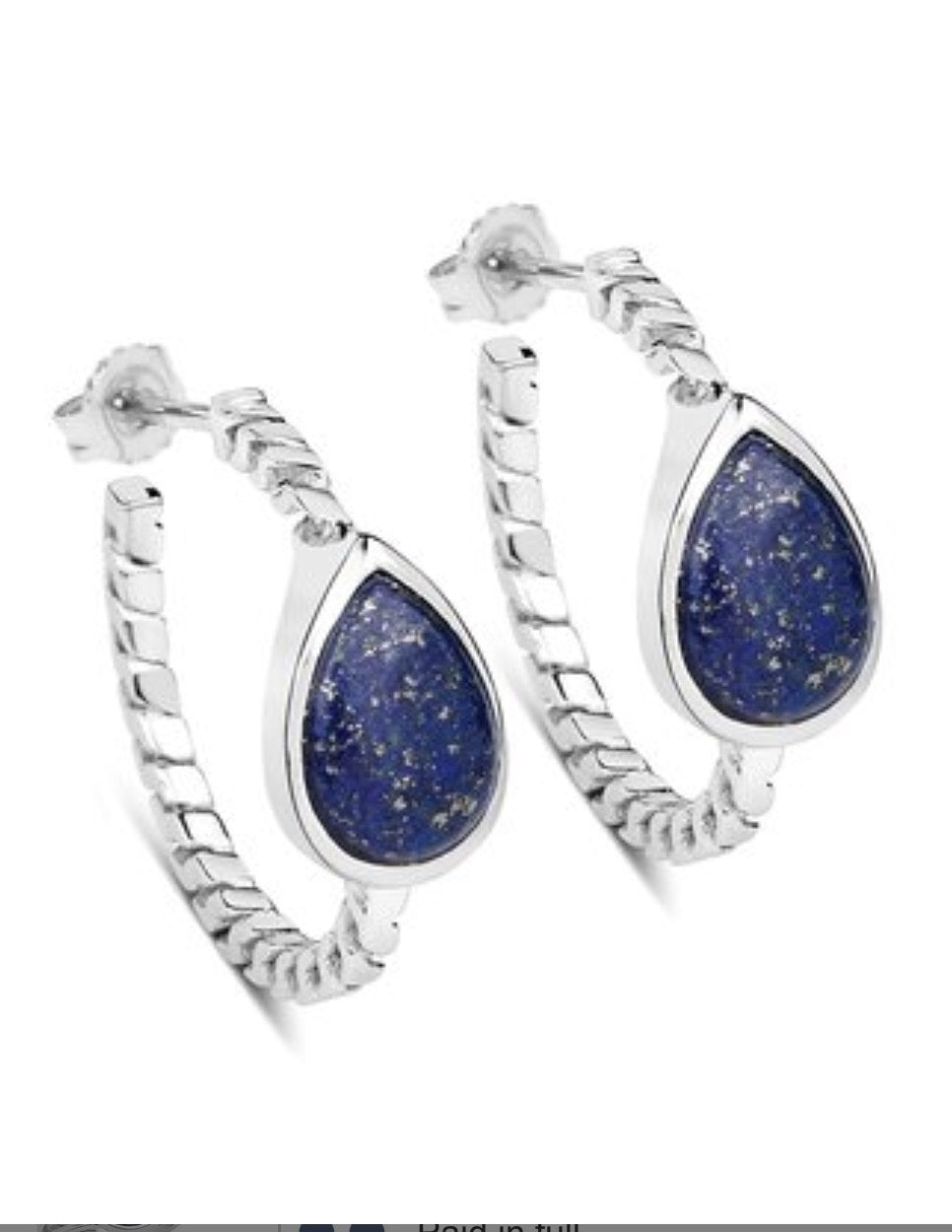 Earrings - Olivia Leone Lapis Hoop