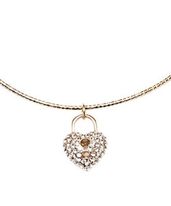 Swarovski® Crystal & Heart Lock Pendant Necklace