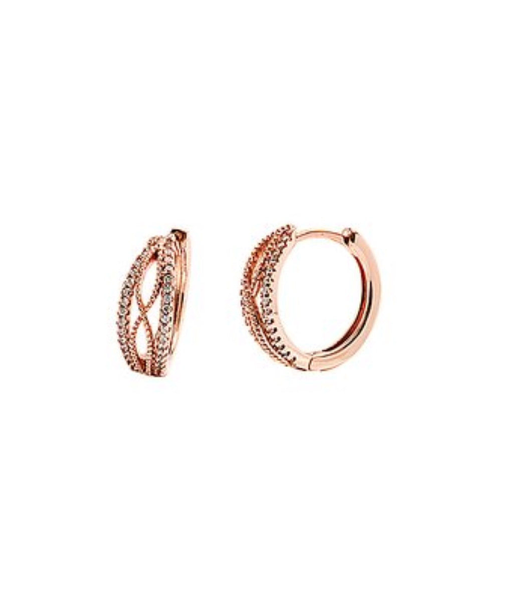 Earrings - Rose Gold Infinity