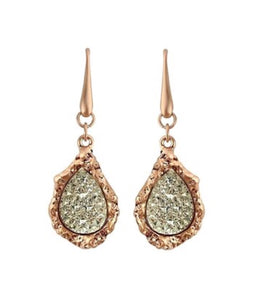 Rose Goldtone With Cluster Swarovski® Crystal Earring