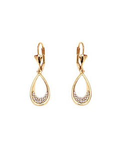 Teardrop Earrings with Swarovski® Crystals