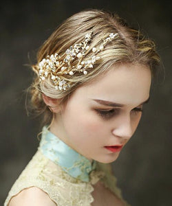 Goldtone Side-Flower Headband